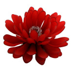 Gerbera, Red, Frosted 1107