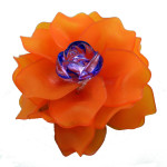 Brooch, Flower Rose, Orange