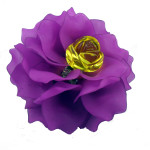 Brooch, Flower Rose, Purple