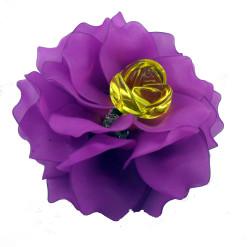 Brooch, Flower Rose, Purple