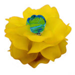 Brooch, Flower Rose, Yellow
